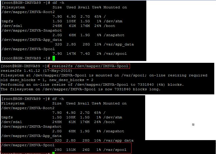 Check disk usage