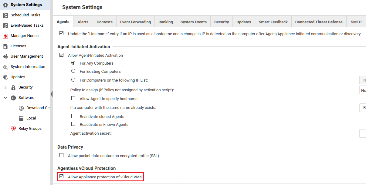 Allow Appliance protection of vCloud VMs
