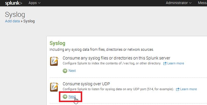 syslog over UDP