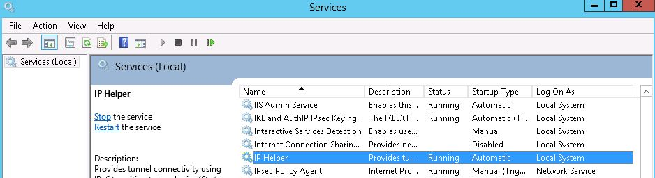 IP Helper service
