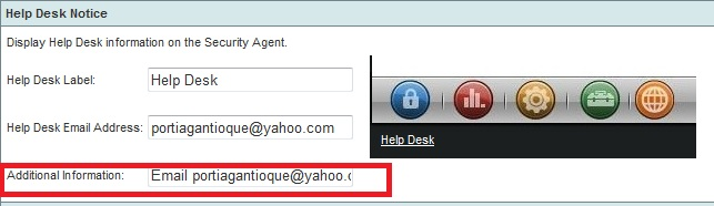 Enter a message on the Additional Information field