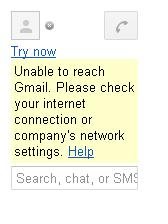 gmail chat error