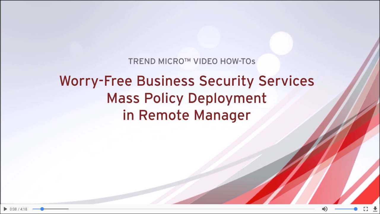Mass Policy Deployment