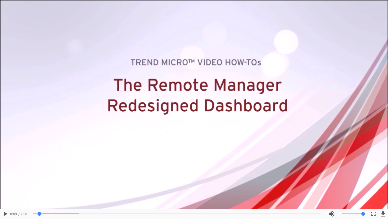 Remote Manager Redesigned Dashboard