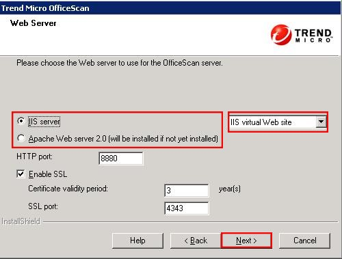 Configure Web Server Options in OfficeScan 10.6
