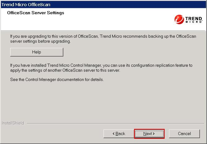 OfficeScan Server Settings