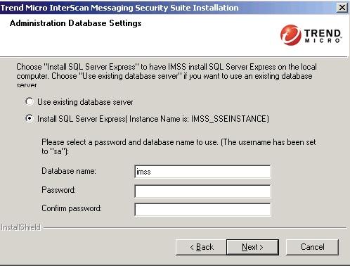Select Install SQL Server Express.