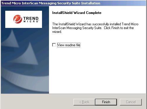 InstallShield Wizard Complete