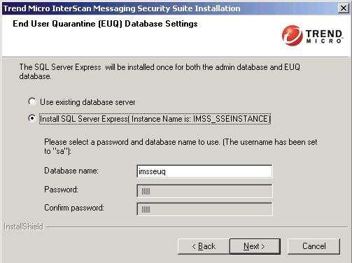Install SQL Server Express