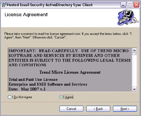 HES ActiveDirectory Sync Client License Agreement