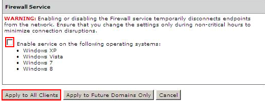 Disable Firewall Service