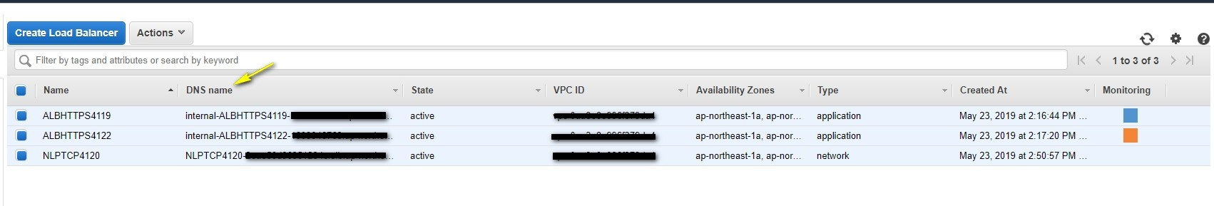 Find the AWS Load Balancer's A Record