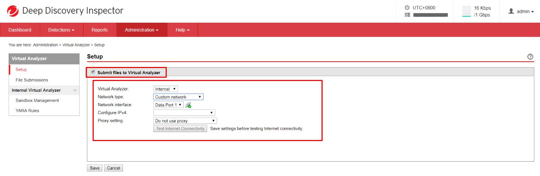 Select Submit files to Virtual Analyzer