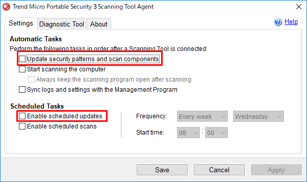 Update security patterns and scan components