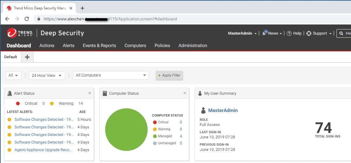 Log in to DSM using Load Balancer Manager hostname