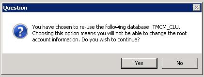 Click Yes to continue
