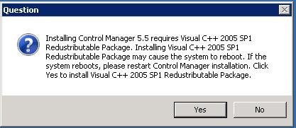 Click Yes to install Visual C++ Redistributable Package