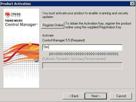 Enter the Activation Key