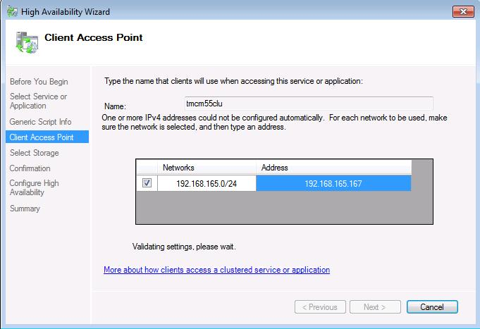 Client access point