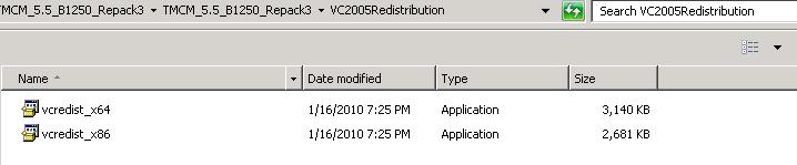 Visual C++ 2005 Redestributable Package