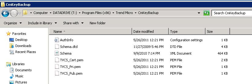 Copy the files