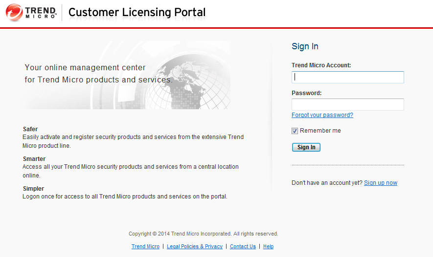 Create a Customer Licensing Portal (CLP) account
