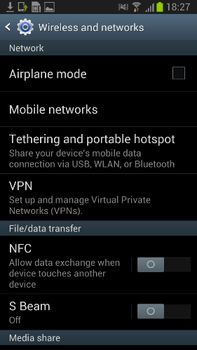 Set up VPN