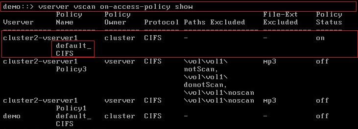 enabled default on-access-policy