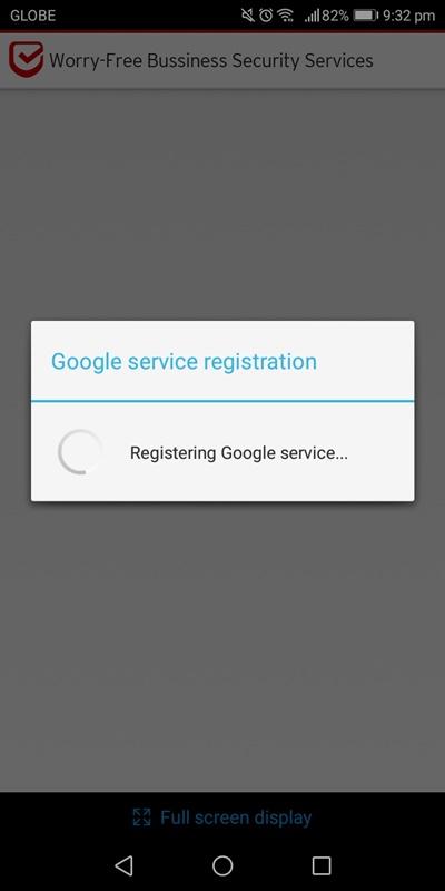 Google Service Registration