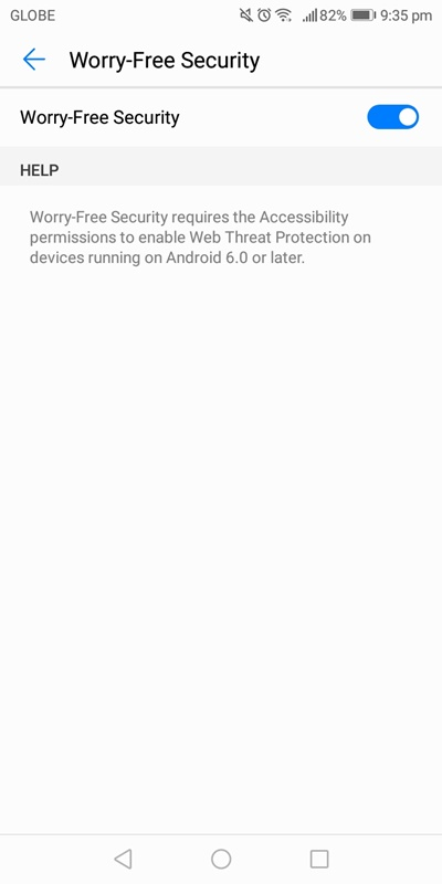 Web threat protection is enabled