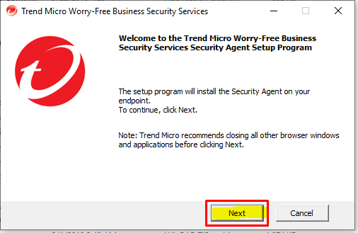 Security Agent installation