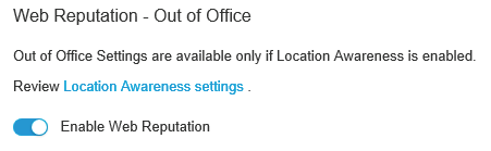 Web Reputation Services: Out of Office