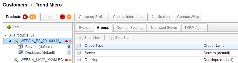 Select the groups you would like to perform a manual scan