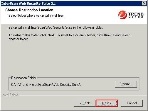 IWSS 3.1 Installation Directory
