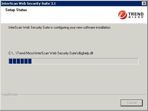 IWSS 3.1 Setup Status