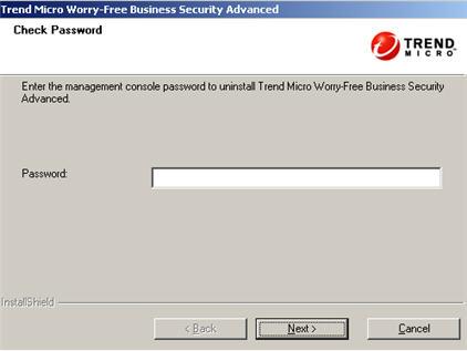Master Uninstaller Password