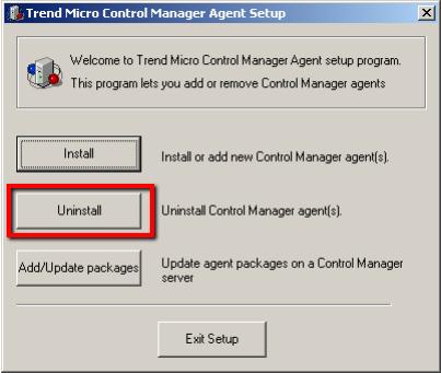 Control Manager Agent Setup