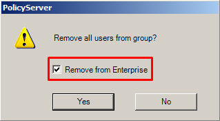 Remove from Enterprise