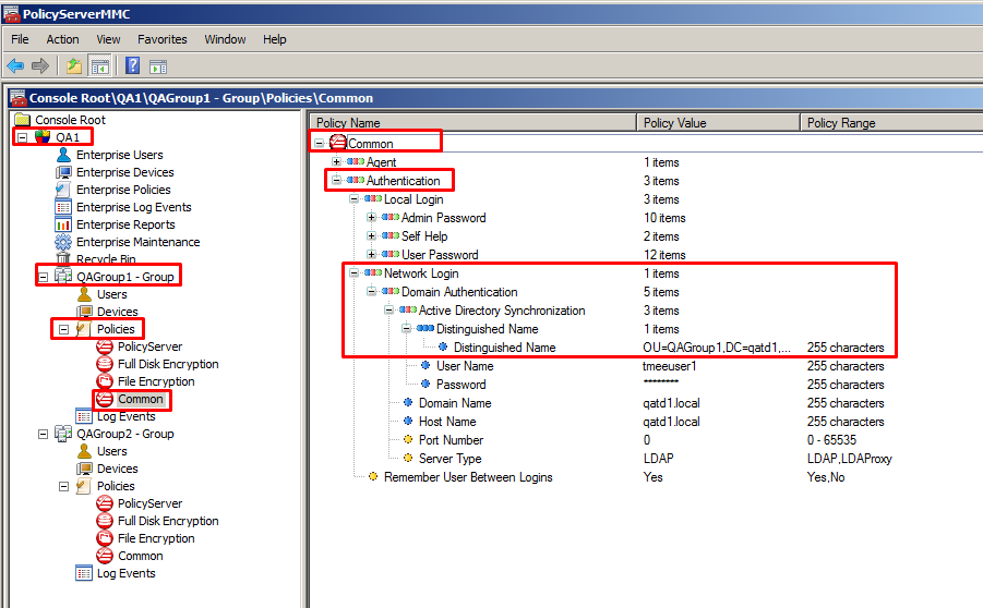 Configure active directory synchronization of group policies