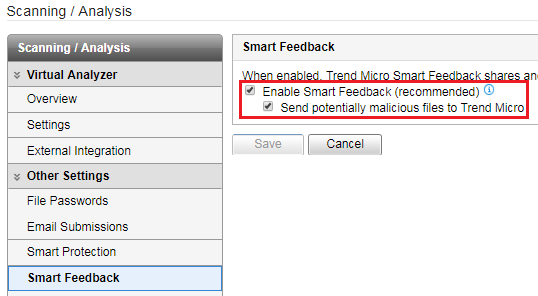 Smart Feedback for Virtual Analyzer