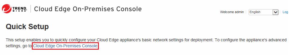 Cloud Edge On-Premises Console