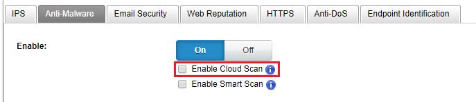 Enable Cloud Scan