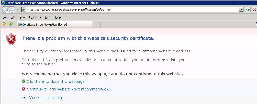 Certificate Error