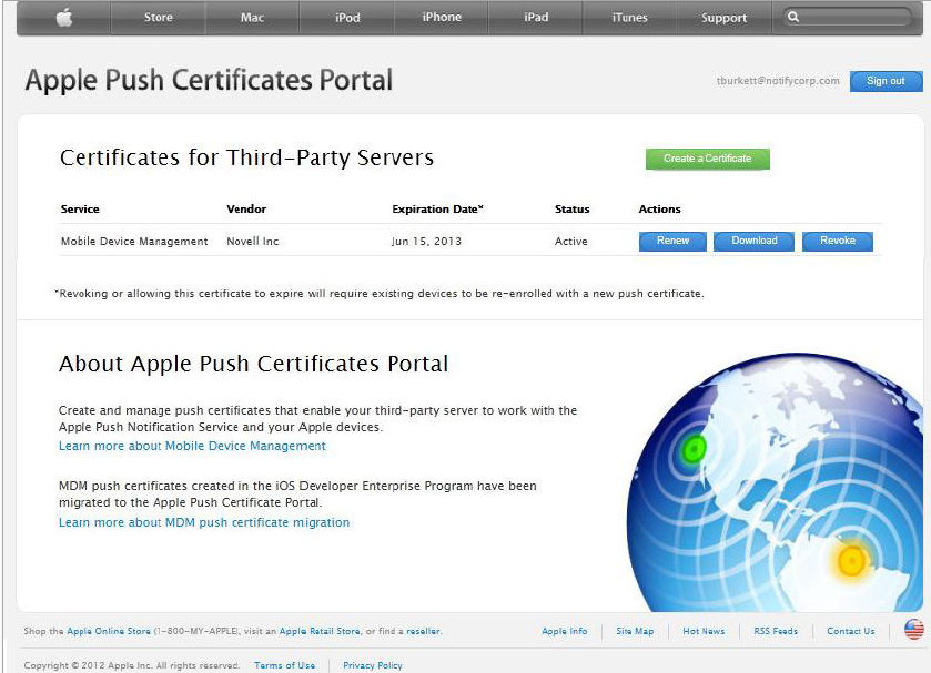 Certificates for Third-Party Servers