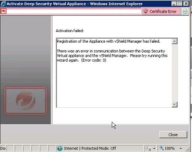 Activate Deep Security Virtual Appliance