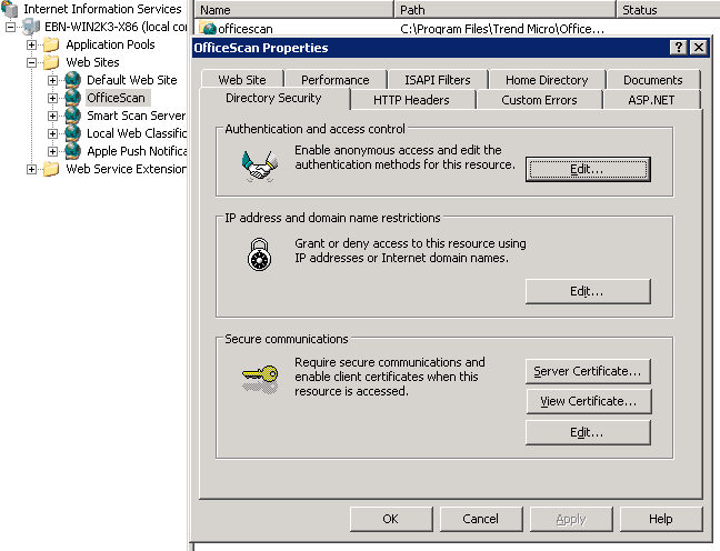 Click Server Certificates