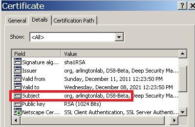open the certificate file