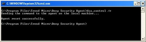 Deactivate DSA via command prompt