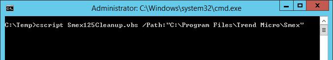 Run Smex125Cleanup.vbs