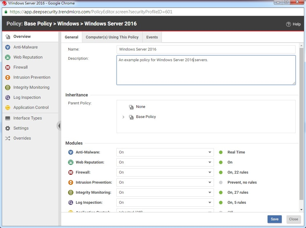 Create a new policy for AWS EC2 instance